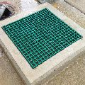 Square Gray And Green FRP Grating Manhole Cover