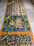 Madhubani Pantings-handmade Cotton saree