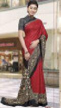 Bansi Diamond Queen New Designer Saree-Red-MSC5053-VO-Crepe