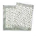 Neem Grey Salli Cotton Canvas Hand Block Printed Table Runner