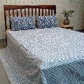 Single Width Kantha Queen Size BAGRU Bed Sheet