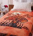 Cotton Single Bedsheet with out Pillow Orange Color