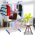DOUBLE POLE 3 TIER CLOTHES DRYING RACK