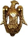 Brass Door Knocker: Antique Eagle Hawk Gate Handle
