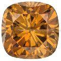 1 carat orange cognac color cushion cut loose moissanite for engagement ring