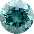 Blue round brilliant cut loose moissanite for Wedding Ring