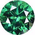 Genuine Green round cut loose moissanite