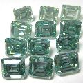 Light green emerald cut 150 ct lot 1 ct to 3 ct loose moissanite NR