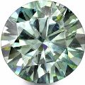 light green round cut brilliant loose moissanite for jewelry