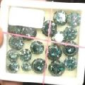 Round brilliant cut fancy blue color 150 ct lot 1 ct to 4 ct loose moissanite NR