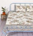 Paisley cotton bedsheet indian sanganeri handmade bedcover