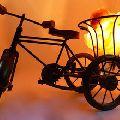 Cycle Rickshaw Shaped Himalayan Salt Lamp