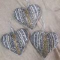 Beautiful bead work Christmas home decorative hanging heart amazing beaded design ornament