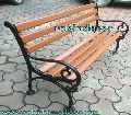 Out Door Garden Bench Antique Style Cast Iron Park Patio Bench