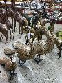 Brass Peacock Statues