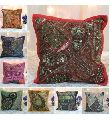 Handmade Indian Antique Beaded Pillow