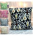 Ikat Kantha embroidered Cushion Cover