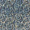 2.5 meter indigo base with white Jaipur block Printed Cotton Fabric