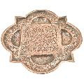 Copper Four Corners Unique Repousse Decoration Serving Platter Wall Art