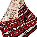 Block Printed Silk Cotton Batik Print Saree