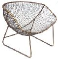 Metal Wire Woven Dining Chair