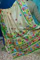 Party Wear Hand Painted Tussar Silk Saree