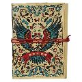 Handpainted Colorful Leather Journal Diary
