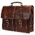 Leather Shoulder-Briefcase Messenger Bag