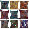 Vintage Sari Patchwork Cushion Covers