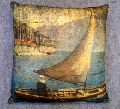 Painting Art Printed Velvet Cushion Cover