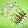 stainless steel with horn handle silverware cutlery sets