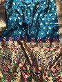 Silk Fabric Lace border Zari Work saree
