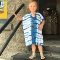 Kids Beachwear Rayon Tie Dye Cover Up Kaftan