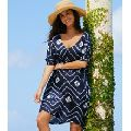 Ladies Beachwear Rayon Tie and Dye Kaftan