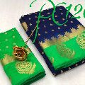 designer party wear saree with weaving blouse