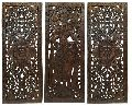 Antique Wooden Carved Wall Panel