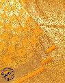 Katan Silk Yellow Floral Banarasi Saree