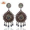 Designer 925 Sterling Pave Diamond Gemstone Earrings Jewelry