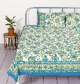 floral printed bedsheet with pillow cover