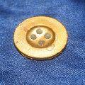 Matte gold plastic shank button for cloths
