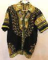 Traditional African Dashiki Men\'s Button Up Collared Shirt