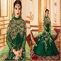 Green Color Wedding Affair Designer Anarkali suit