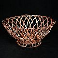 Copper Electroplating Aluminum Wire Weaving Round Storage Basket