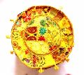 Decorative Round Pouf Cover Floral Embrodried Ottoman Indian Cotton Pouffe Cover