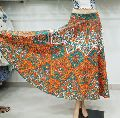 Ethnic Hand Block Printed Women Skirt Multi Colorful