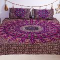 Handmade bed sheet 100% cotton double size bed