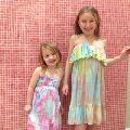 Beachwear Rayon Kids Cover Up Kaftan