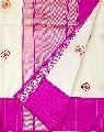 Katan Silk Resham And Zari Kadwa Buti Hand Woven Banarasi Saree