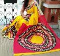 Madhubani Handblock Soft Cotton Blouse Malmal Saree