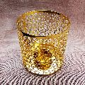 Gold Plated Tealight Candle Holder
